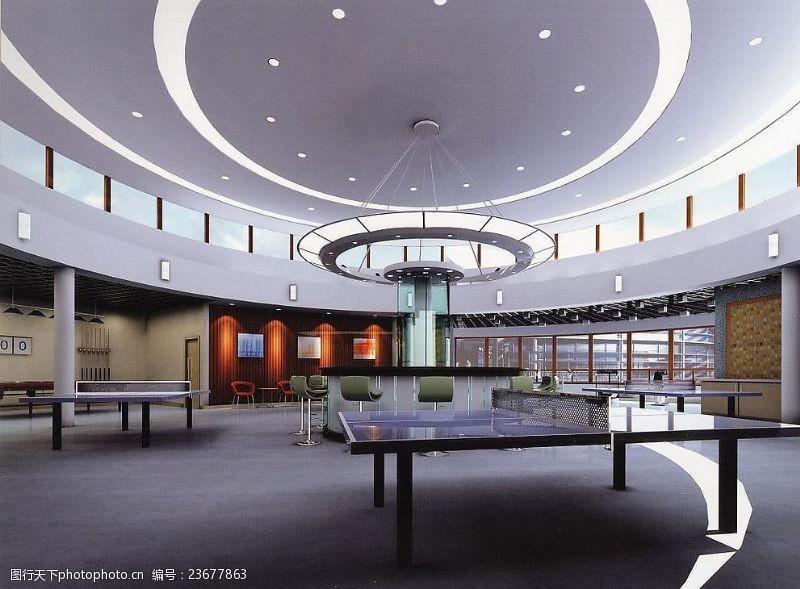材质灯光齐全兴业银行元洪大厦办公楼活动中心