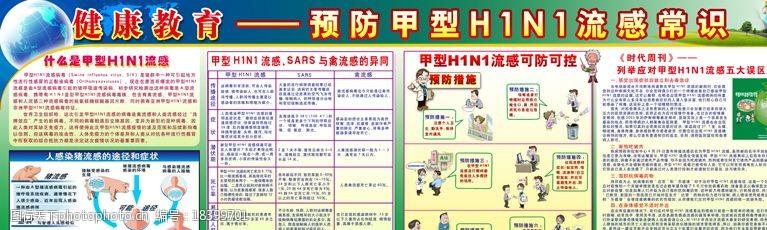 猪流感漫画甲型H1N1流感图片