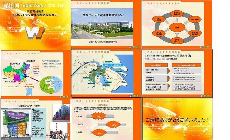 wto企业经济投资PPT模板22张图片