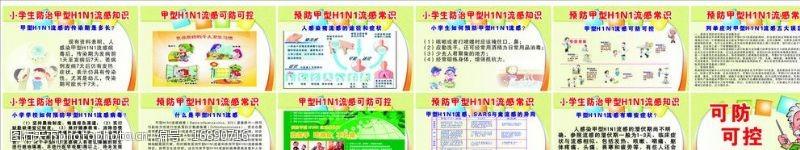 流感常识甲型H1N1流感宣传图片